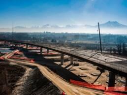 Buildingimages - Servizio fotografico costruzione tratto autostradale Asti Cuneo, Autostrada A33 per ITINERA SPA, Gruppo gavio, ASTM.